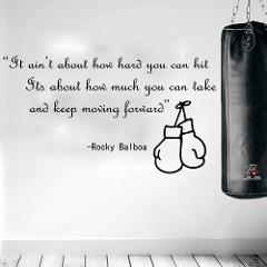 Rocky Balboa Famous Boxing Quote Movie Wall Sticker Kids Room Bedroom Boxing Sport Inspirational Quote Wall Decal Boy Room Vinyl