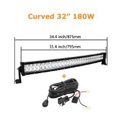 Curved/Straight 22 32 42 52inch 300W 240W Led Light Bar Driving Lamp Universal Offroad Truck SUV ATV Tractor Car Boat