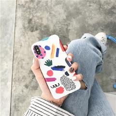 Abstract Art Painted Phone Case For iphone X XS Max XR Case For iphone 11 Pro Max 6S 7 8 Plus Cartoon Graffiti Cover Soft Cases