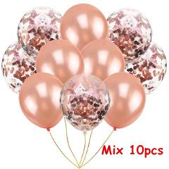 14pcs Rose Gold 18inch Heart Star Balloons Wedding Decor Birthday Party Confetti latex Balloon Decoration Kids Gift Globos