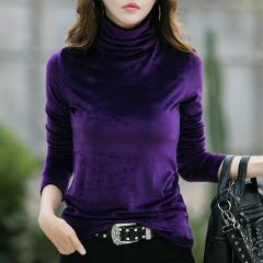 Plus Size 4XL Thick Warm Winter Velvet Top Female Turtleneck Pullovers Long Sleeve Warm Women's Turtleneck Sweater Shirt Lady