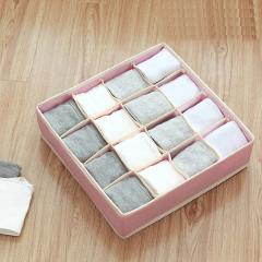 Washable underwear & bra organizer Clothes Storage Box Closet Organizer foldable Dormitory case Scarf &Tie Organizer Socks box