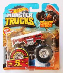 Hot Wheels 2019 Monster Trucks 5 Alarm 1:64 Giant Wheels with Connect and Crash Car