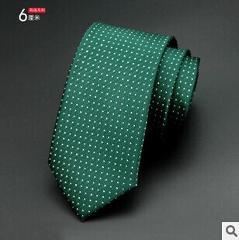 1200 Needles 6cm Mens Ties New Man Fashion Dot Neckties Corbatas Gravata Jacquard Slim Tie Business Green Tie For Men Necktie