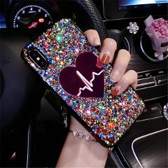 Sequins Big Love Case For Samsung Galaxy A10 A20 A30 A40 A50 A60 A70 A80 A90 A20E A10E J4 J6 J8 A6 A8 2018 Note 8 9 10 Plus