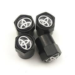 luminous 4PCS Car Wheel Tire Valve Caps For toyota corolla chr auris rav4 yaris avensis Car sticker Car Styling accessories