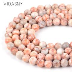 Natural Mixed Gem Stone Red Japsers Carnelian Lava Citrines Round Beads For Jewelry Making 4-12mm Loose Beads Diy Bracelets 15''