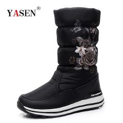 Women snow boots  platform winter boots thick plush waterproof non-slip boots women winter shoes  warm fur botas mujer plus size