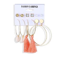 Fashion Tassel Acrylic Earrings For Women Bohemian Earrings Set Big Circle Geometric Drop Earing 2019 Brincos Female DIY Jewelry