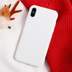 White Matte TPU Case For iPhone 6 6S 7 8 Plus X For Samsung Galaxy S7 S8 S9 S10 Plus A40 A50 A70 For Huawei P20 P30 Lite Y6 2019