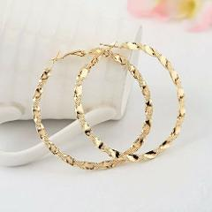 Earrings Hoop Big Women Gold Silver Round Jewelry Circle Gift Charm Large Dangle
