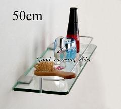 20 25 30 35 40 45 50cm single tier wall toilet glass bathroom shelf