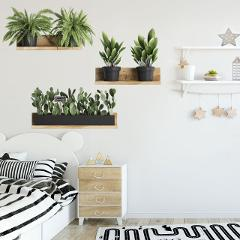 Green plants potted plants three-dimensional living room room background decoration wall stickers wall decoration vinyl