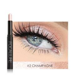 FOCALLURE Glitter Eyeshadow Pencil Metallic Shadow Eye Makeup Cosmetics Easy to Wear Eye Shadow Stick