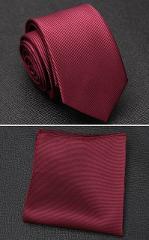 XGVOKH Men Tie Cravat Set Fashion Wedding Ties for Men Hanky Necktie Dot Striped Gravata Jacquard Tie Social Party Accessories