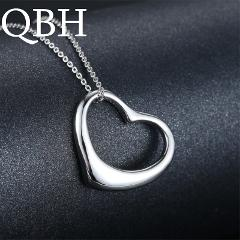 XS015 Wholesales Dainty Cute Glossy Heart Shaped Peach Heart Pendant Clavicle Chain Necklace Jewelry Wedding LOVE Couple Collier