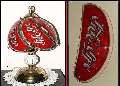 replacement Glass panel for Hebrew Coca Cola touch lamp