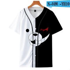 Frdun Tommy Monokuma 3D Loose Short Sleeve Baseball T-shirt Men 3D New Style Fashion Casual Harajuku The Button Baseball Tshirt
