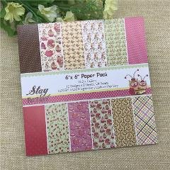 "24 sheets 6""X6"" Stay For Love patterned paper Scrapbooking paper pack handmade craft paper craft Background pad"