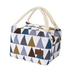 Canvas Lunch Bag Portable Insulation Lunch Box for Picnic Cooler Thermal Bags for Student Women Lunch Bags Europe Style 315Z