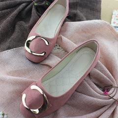 Plardin 2019 Fashion Flock Women's Flats For New Summer Slip-On Round Toe Casual Flat Shoes Basic ballet Shoes Woman Size Plus