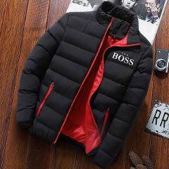 Winter Jacket Men Yes Boss Fashion Stand Collar Male Parka Jacket Mens Solid Thick Jackets and Coats Man Winter Parkas