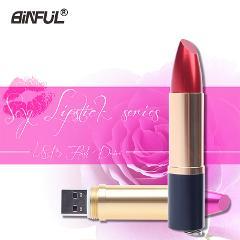 Fashion girl Pen Drive woman U Disk Metal Lipstick Shape Genuine 4GB 64GB 8GB 16GB 32GB USB Flash Lady Memory Sticks