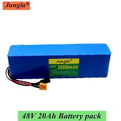 New 48V20Ah 1000watt 13S3P 18650 Battery Pack MH1 54.6v bike Electric bicycle battery Scooter with 25A discharge BMS  XT60 plug