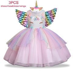 Unicorn Dress Easter Princess Dress Kids Dresses For Girls Costume Children Birthday Party Dress Vestidos 3 4 5 6 7 8 9 10 Year