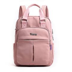 Nylon Women School Backpacks Anti Theft USB Charge Backpack Waterproof Bagpack School Bags Teenage Girls Travel Bag mochila