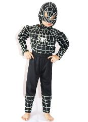 Wholesale & retail Christmas/Halloween 3-7 Years Boys Black spider-man Muscle Cosplay Role-playing clothing,Long-sleeved T-shirt