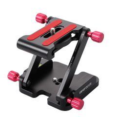 Z Flex Tilt Tripod Head Folding Quick Release Plate Camera Aluminum Alloy Rail Bracket for DSLR Camera Stabilizer Gear 4 screw