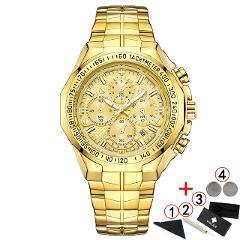 Relogio Masculino 2019 Men Watches Top Brand Luxury WWOOR Chronograph Big Dial Gold Male Wristwatch Sport Golden Men Watch 2019
