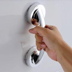 ABS Suction Cup Grab Bar Handle Strong Sucker Bath Mount Handle Free Installation Hand Grip for Elder Bathroom Accessories