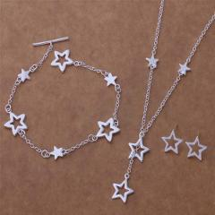 AS163 Hot 925 sterling  silver Jewelry Sets Bracelet 131 + Necklace 559 + Earring 446 /agpaixwa ancajeja