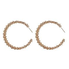 Multi-thorn Personality Circle Big Earrings Metal Wild Temperament Popular Women Jewelry Wholesale And Retail Crystal Earrings