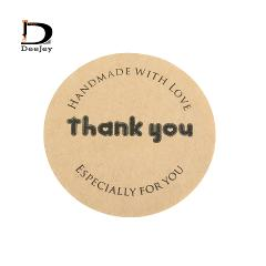 New arrival 1.5inch 38mm Handmade with love Thank  you especially for gift sticker bakery kraft seal stickers kraft  600pcs lot