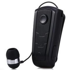 Portable Retractable Wireless Bluetooth Earphones 4.0 Stereo Vibrating Alert Clip In Ear Headset Earphone Mic Phone Call Headph