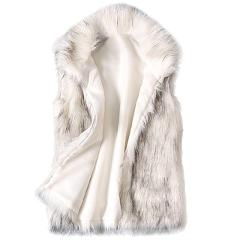 vest Women Arctic Fleece Winter Striped Crew Neck Long Sleeve Blouse