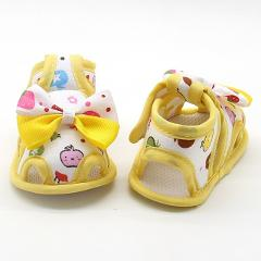 Flower Kids Sandals For Girls Summer Princess Baby Toddler Children Soft Cotton Fabric Shoes