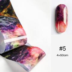 1 Pc Marble Series Nail Foils Nail Art Transfer Stickers Psychedelic Sky Series Nail Decoration Rose Gold Champagne Nail Sticker