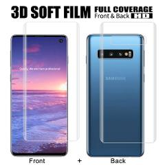 3D Full Soft Film For Samsung Galaxy S10 S8 S9 Plus Note 9 8 S6 S7 Edge Front Back Film on Samsung S10 Plus Screen Protector