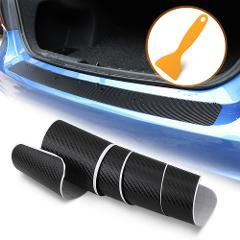 Carbon Fiber Car Trunk Rear Bumper Sticker for Skoda Citigo Rapid Octavia 1 2 3 Roomster Superb 3 Vision E Car Accessories