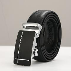 Fashion Automatic Male Belts  Men Black Belts  Hot sale Leather Belt Top quality 2019 Leather Belts For Men   size 110cm-130cm