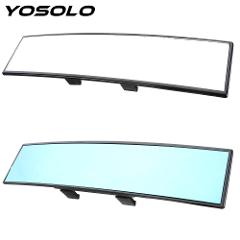 YOSOLO Angle Panoramic 300mm Large Vision Anti-glare Car Rear View Mirror Baby Rearview Mirror Car Interior Accessories