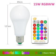 110V 220V E27 RGB LED Bulb Lights 5W 10W 15W RGB Lampada Changeable Colorful RGBW LED Lamp With IR Remote Control+Memory Mode