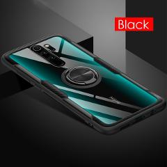 Luxury Soft Bumper Magnetic Ring Case For Xiaomi 9T Pro Redmi K20 7 Note 8 7 Pro Silicone Shockproof Transparent Case Back Cover