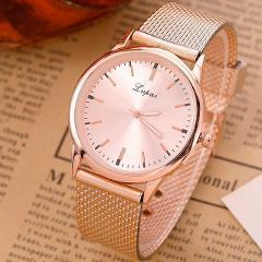 2019 Simple Women Metal Mesh Watch Simplicity Wrist Fashion Casual Quartz High Quality Women's Watches Relogio Masculino