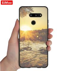 EiiMoo Silicone Case For LG G8 ThinQ G8S ThinQ Cover Ultra-thin TPU Soft Back Cover For LG G8 G8S ThinQ Case Capa Coque Funda