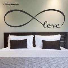22*60CM Free Shipping Bedroom Wall Decals, Love Wall Stickers Bedroom Decor - Infinity Symbol Word Love Bedroom Vinyl Wall Art